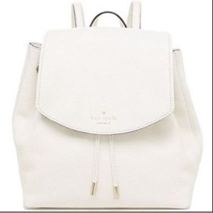 kate spade Mulberry Street white leather backpack